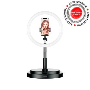 Xwave Selfie stalak led svetlo, visina 58-168cm, crna LED Ring stand black