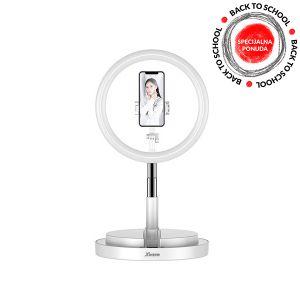 Xwave Selfie stalak led svetlo, visina 58-168cm, bela LED Ring stand white