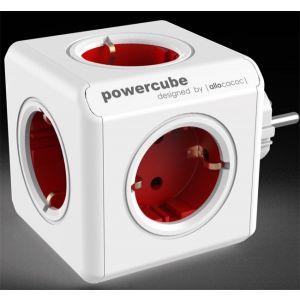 Allocacoc KABL Powercube produžni 5x Šuko 16A/230V, crvena 1100RD/DEORPC