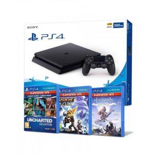 Sony KONZOLA PlayStation 4 500GB Chassis Black + 3 Hits igrice