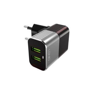 LDNIO KUĆNI PUNJAČ A2206 2XUSB 2.4A + iPhone Lightning kabel crno sivi 029311