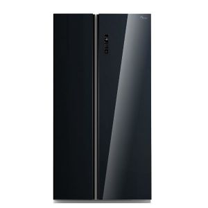 Midea SIDE BY SIDE FRIŽIDER HC-689WEN premium crno staklo A+