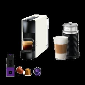 Nespresso APARAT ZA KAFU Essenza Mini White i APARAT ZA PRAVLJENJE PENE OD MLEKA Aeroccino 3 A3NC30EUWH-TX