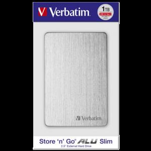 Verbatim EKSTERNI HDD Alu Slim HDD 1TB Silver 53663