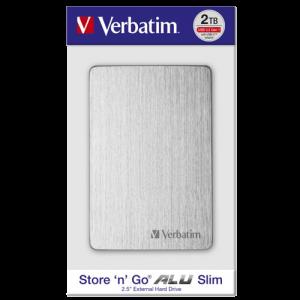 Verbatim EKSTERNI HDD Alu Slim HDD 2TB Silver 53666